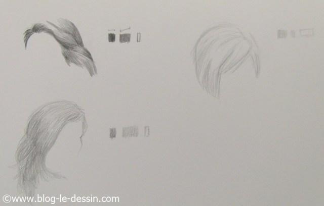 Les trois petits dessins pour savoir reconnaitre la bonne tonalite de gris du cheveu