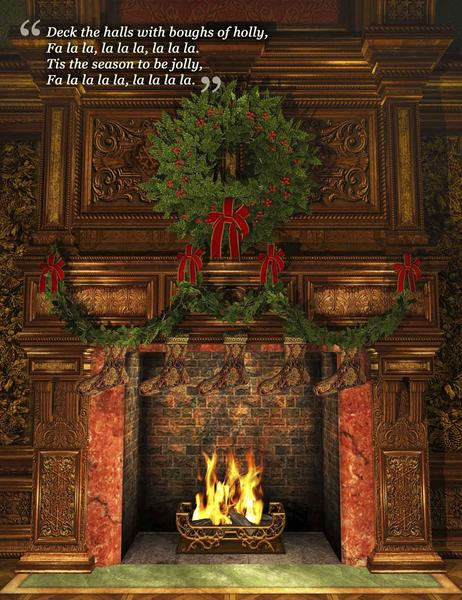 Deck the Halls Christmas Carol Jigsaw Puzzle