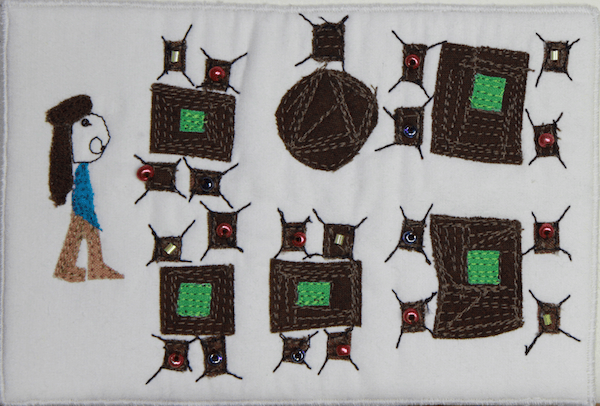 Quilted postcard of grade 3 class
