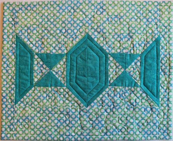 Teal green placemat