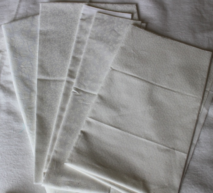 White fabric selection
