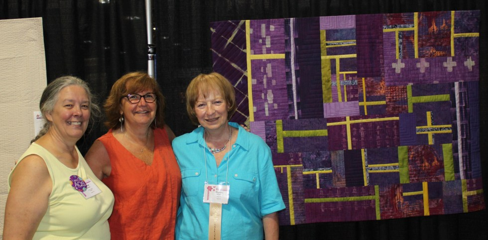 American Quilters Society quilt show with Marcia's blueberry tea, Helen and Jeanne