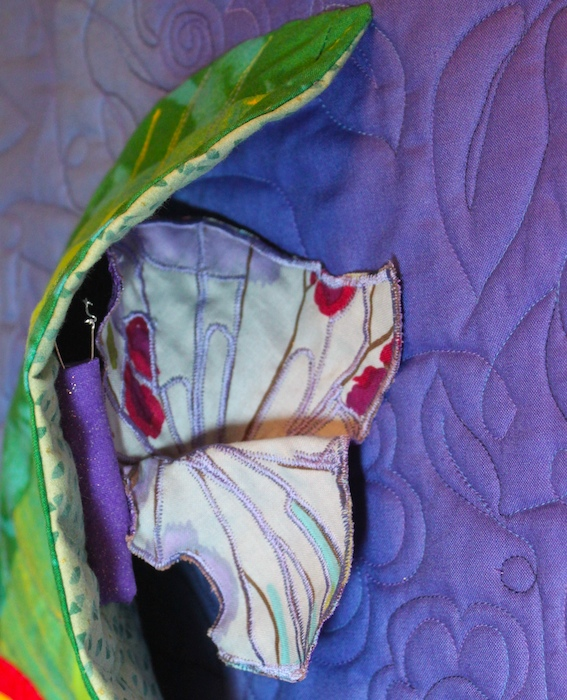 butterfly beneath the leaf of the metamorphosis triptych by doris