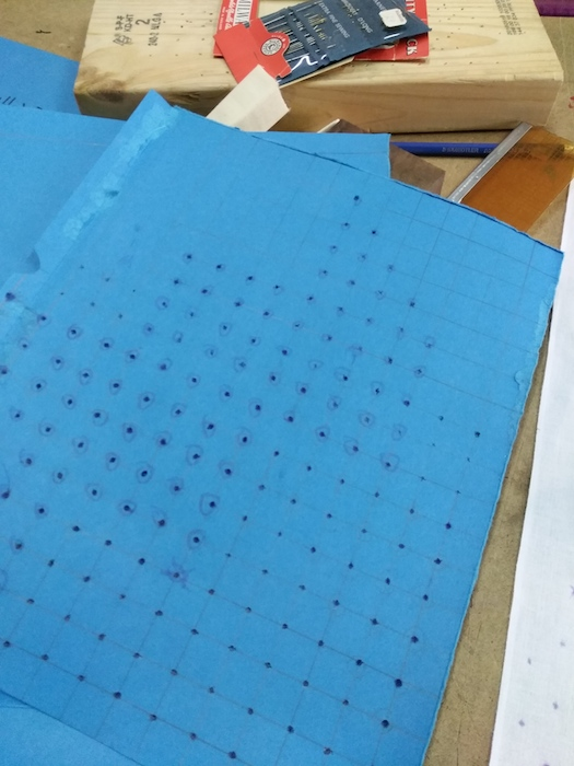 template for indigo dyeing with Roland Ricketts at the Contemporary Textile Studio Coop