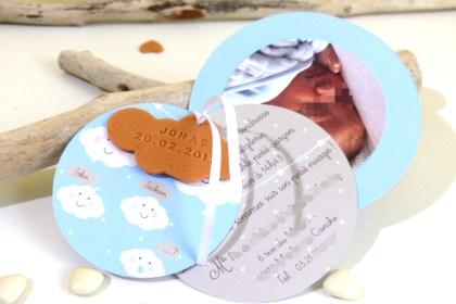 Faire-part de naissance : du bonheur dans un petit-beurre !