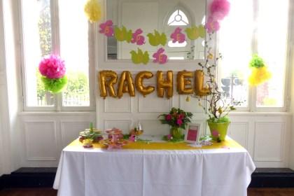 Baptême de Pâques : du chocolat et des gourmandises pour Rachel !