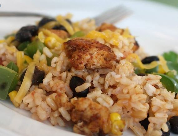 Southwest Chicken and Rice Skillet