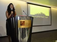 Gayatri Thampi at S P Jain Global's Mumbai Campus Launch
