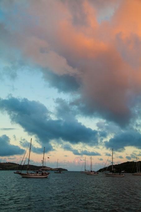 sailing boats in Ensanado Honda, Dewey, Culebra