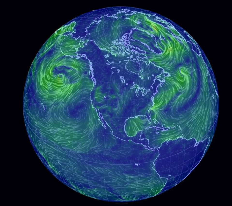 Earth global wind patterns