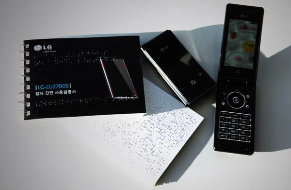 LG gives away 2,000 specially modified phones for the blind