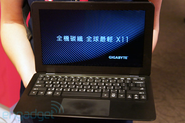 A closer look at the Gigabyte X11, the world's 'lightest' Ultrabook