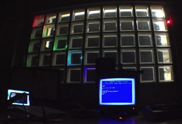 Metalab wires its Blinkenwall to run from Commodore 64, no word on the obligatory Tetris port video