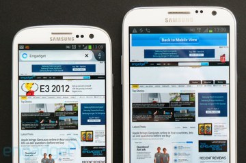 Samsung Galaxy Note 2 comparison to Galaxy S3