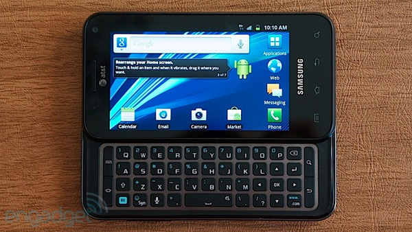 AT&T upgrades Samsung Captivate Glide to Android 40, keeps the QWERTY habit going
