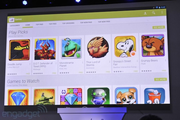 Google Play Store at Google IO 2013