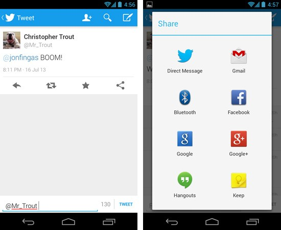Twitter for Android update brings inline replies, sharing through direct messages