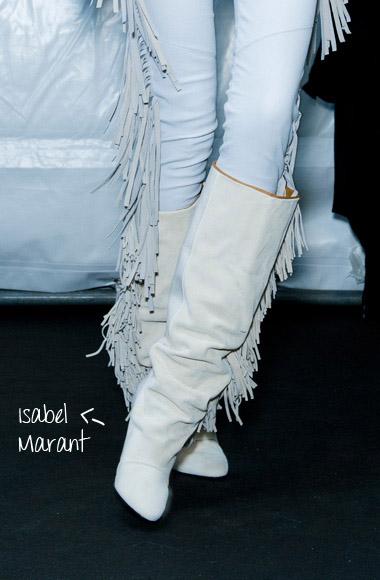 Navajo fringe boots Isabel Marant SS12