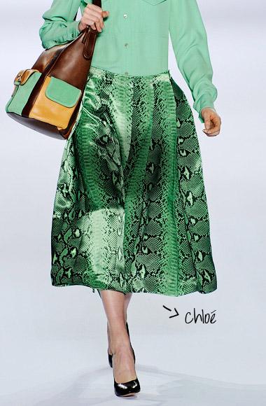 skirt color snake SS12 Chloé