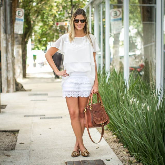 Look do dia: branco e onça <3 | Blog da Alice Ferraz