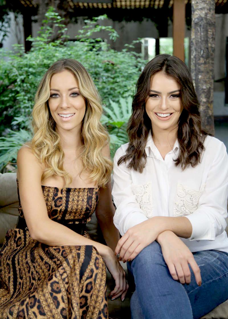 Helena e Mariana no set do Beauty Tips