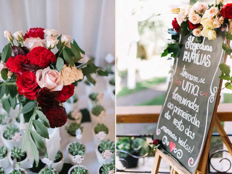 casamento religioso - decoração vermelha