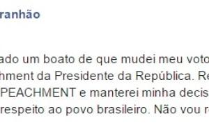 Waldir Maranhão ao lado de Dilma, Flávio Dino e Marcio Jerry