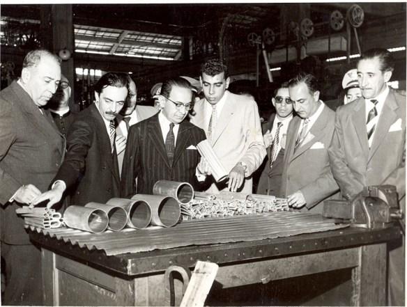 O jovem Antônio Ermírio de Moraes, na inauguração da CBA em 1955