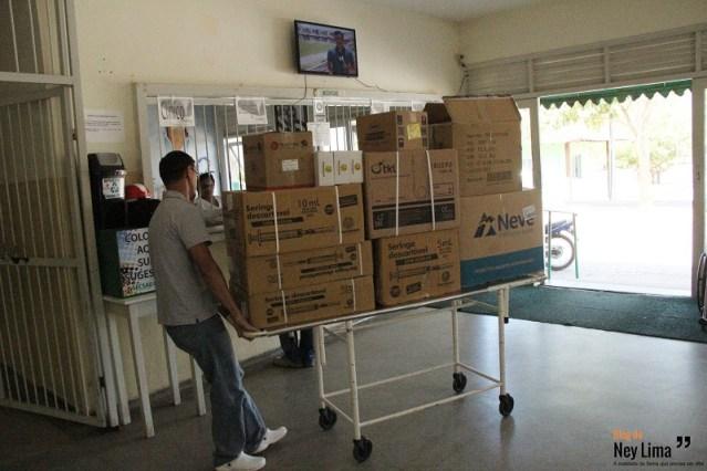 Hospital teve que ser reabastecido por duas vezes com materiais e medicamentos devido a demanda de pacientes
