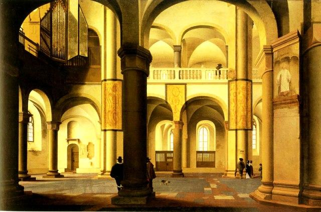 Y se dedica sólo a su cuadro favorito, una iglesia de Saenredam.