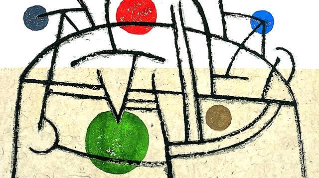 """""""Volcán iluminado"""" de Vicente Rojo, de su colección """"Volcanes construidos"""" (2004)."""