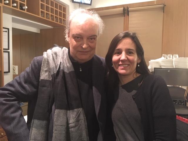 V-M con Mariana Sández. Londres, 17 enero 2019