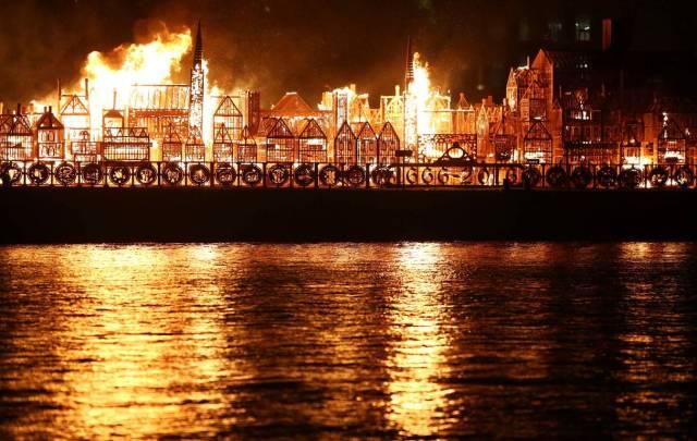 350 aniversario del Gran Incendio de Londres. Foto Reuters