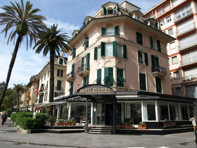 Hotel Riviera en Rapallo (Italia), donde transcurre la acción de 'Un gato bajo la lluvia', de Hemingway)