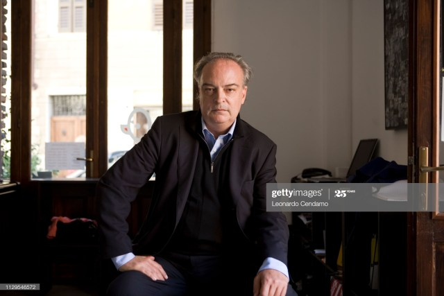 Enrique Vila-Matas, Spanish, writer, Feltrinelli, novelist, portrait, Modena, Milano, Italy, 8th September 2007. (Photo by Leonardo Cendamo/Getty Images)