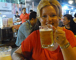Megan at Satay St sm