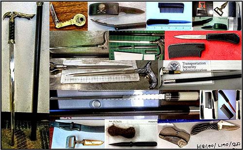 Pocket knives on planes