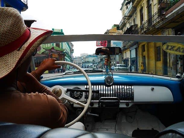 Classic car taxi Cuba