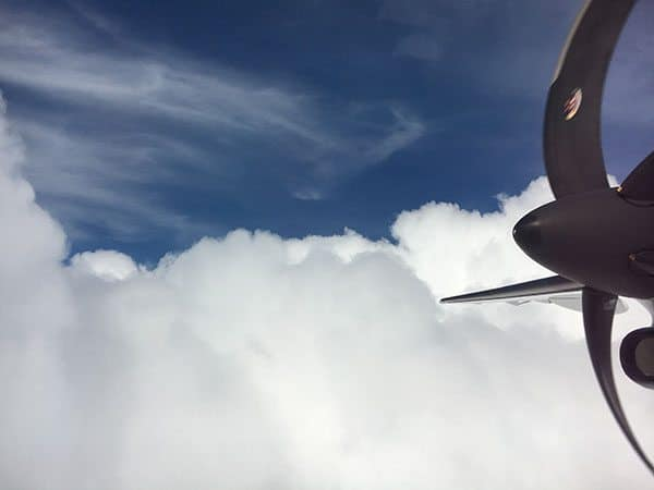 Propellor in clouds