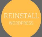 reinstall wordpress
