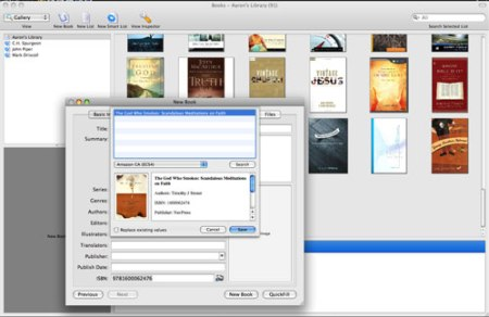 Adding a book to your library is easy-just input the ISBN and away you go!