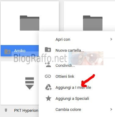 google-drive-aggiungi ai miei file