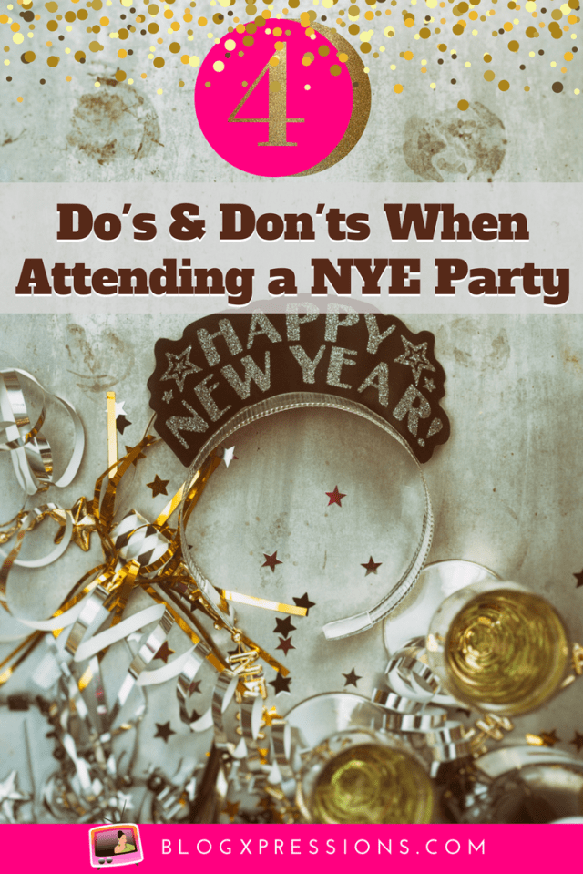 The countdown to the New Year is on! Time to put on your festive wear, pop bottles of champagne and spread cheer for a new YOU! There will be parties, celebrations, get-togethers filled with family, friends, fun, and games. Before you head out, take a mental note of these do's and dont's when attending a NYE party! #NewYear #Holiday #Party