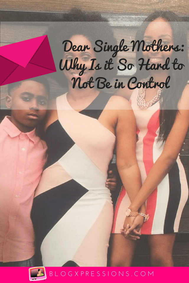 Being a single parent is a taxing lifestyle that sometimes it even harder to just let go. Read this blog to find out why relinquishing control has become an ongoing issue in single motherhood.