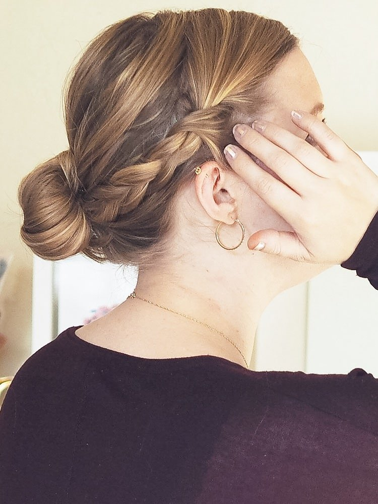 3 Step Braided Summer Chignon