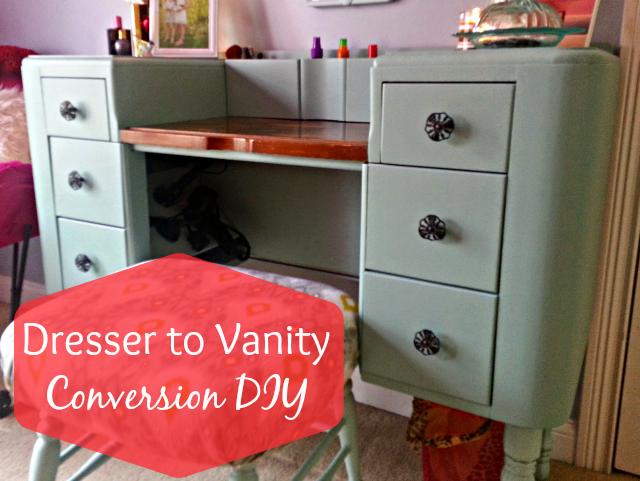 Diy Dresser To Vanity Conversion