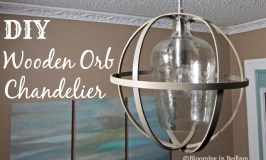 DIY Wooden Orb Chandelier