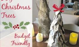 Budget Friendly Holiday Decor- DIY Christmas Trees
