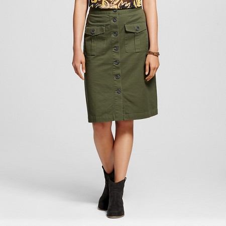 Women's Button Front Midi Skirt- Who What Wear TARGET $24.99
