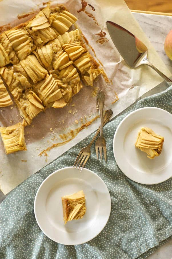 Brown Butter Apple Bars. These cinnamon-kissed bar cookies might be your new favorite apple dessert. From Blossom to Stem | www.blossomtostem.net